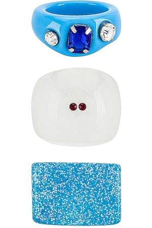 8 Other Reasons Acrylic Ring Set in - Blue. Size all.
