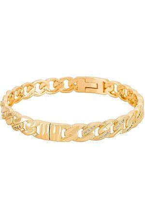 Natalie B Jewelry Lien Chain Bangle in - Metallic . Size all.
