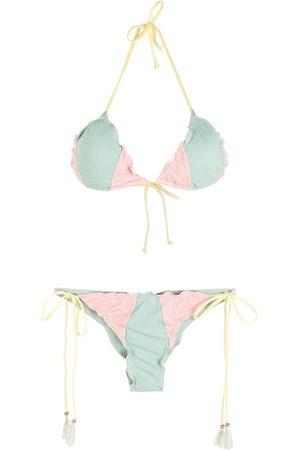 Brigitte Damen Bikinis - Colour-block triangle bikini set