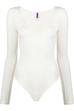 Maison Close Damen Slips - Long-sleeved modal bodysuit