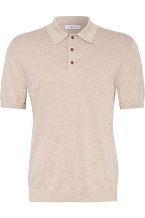 Reiss Strick-Poloshirt Wilkie beige