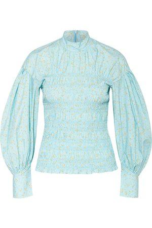 Ganni Damen Blusen - Blusenshirt blau