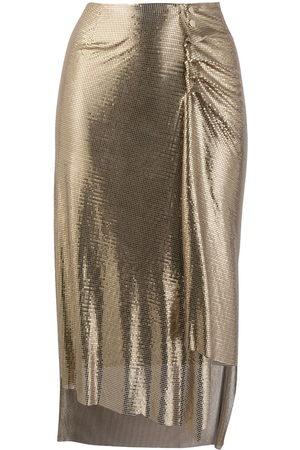 Paco rabanne Damen Röcke - Metallic ruched skirt