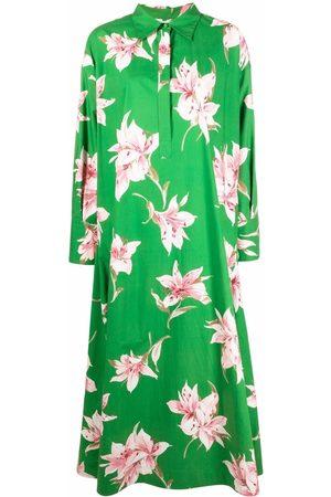 VALENTINO Lily-print long dress