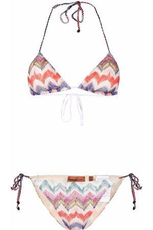Missoni Damen Bikinis - Chevron-knit triangle-cup bikini set
