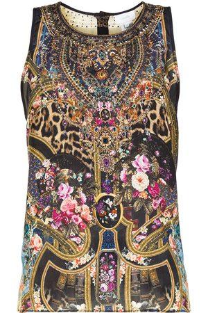 Camilla Multi-print vest top
