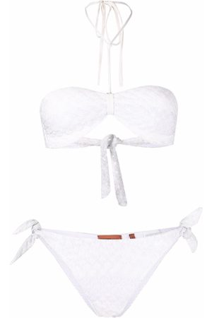Missoni Pointelle-knit halterneck bikini set