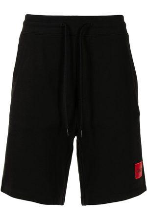 HUGO Herren Kurze Hosen - Logo patch track shorts