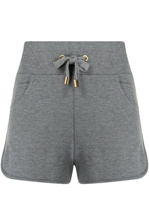 Balmain Damen Shorts - Embossed-logo track shorts