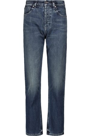 Saint Laurent High-Rise Straight Jeans