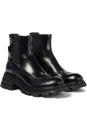 Alexander McQueen Damen Stiefeletten - Chelsea Boots aus Leder