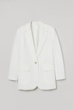 H&M Oversized Blazer aus Leinenmix