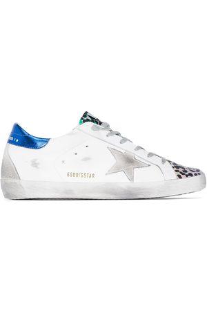 Golden Goose Super-star leopard print sneakers