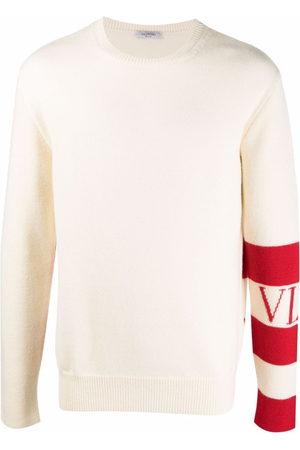 Valentino Stripe-detail wool jumper