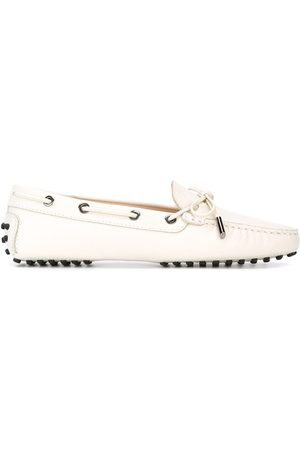 Tod's Sole detail front tie moccasins