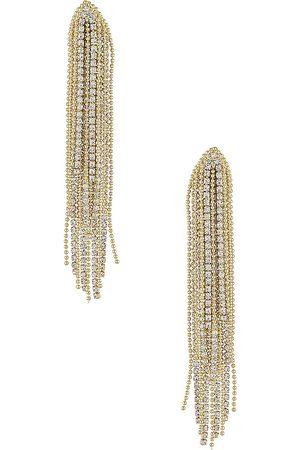 Shashi Drop Earring in - Metallic . Size all.