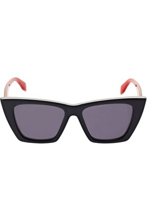 "Alexander McQueen Damen Sonnenbrillen - Katzenaugen-sonnenbrille Aus Acetat ""selvedge"""