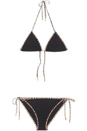 Burberry Damen Bikinis - Nylonbikini Mit Karodruck