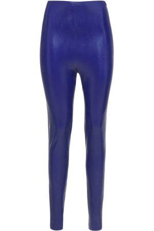 Saint Laurent Damen Leggings & Treggings - Hochtaillierte Leggings Aus Stretch-material