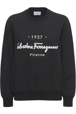 SALVATORE FERRAGAMO Sweatshirt Aus Baumwolljersey Mit Logo
