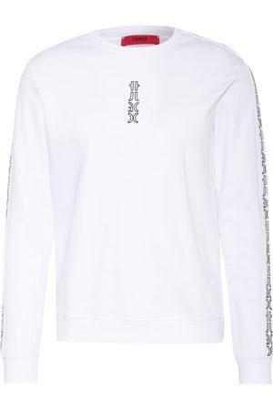 HUGO BOSS Herren Sweatshirts - Sweatshirt Doby weiss