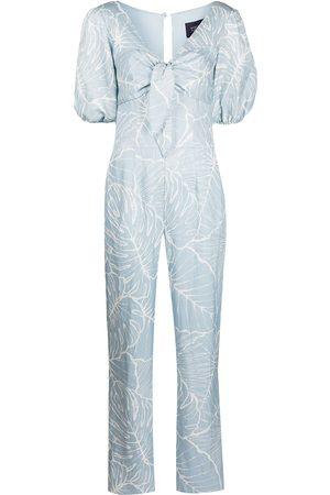 Marchesa Notte Damen Jumpsuits - Leaf-print jumpsuit