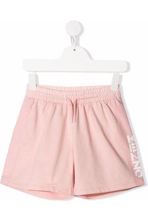 Kenzo Kids Mädchen Shorts - Logo-print track shorts