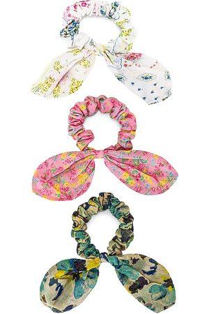 LOVESHACKFANCY Wanderlust Swim Guaze Scrunchie Set in - Pink,Green,White. Size all.