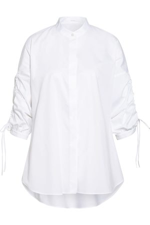 HUGO BOSS Oversized-Bluse Benima Mit 3/4-Arm weiss