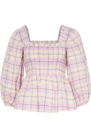 Ganni Damen Blusen - Blusenshirt Mit 3/4-Arm rosa
