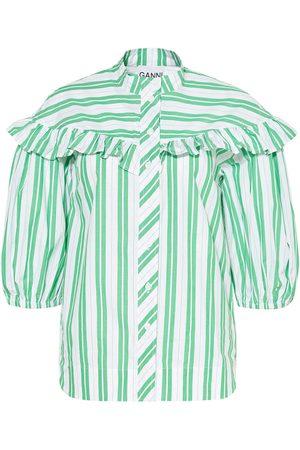 Ganni Damen Blusen - Bluse Mit 3/4-Arm gruen