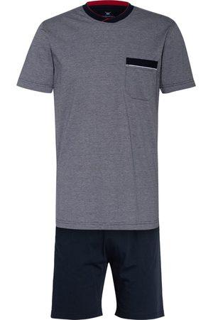 STROKESMAN'S Herren Schlafanzüge - Shorty-Schlafanzug blau