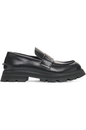 Alexander McQueen Herren Halbschuhe - Loafers Aus Poliertem Leder