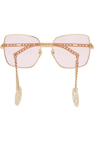 Gucci Damen Sonnenbrillen - Detachable-charm square-frame sunglasses