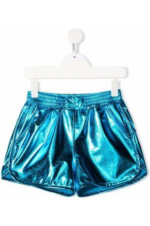 Andorine Mädchen Shorts - Metallic-effect fitted shorts