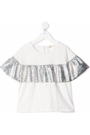 Le pandorine Mädchen Blusen - Ruffle short-sleeve blouse