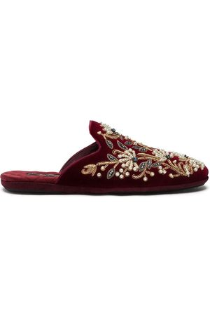 Dolce & Gabbana Bead-embroidered slippers