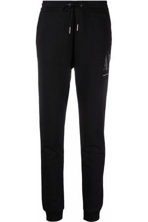 Armani Exchange Damen Jogginghosen - Embellished-logo sweatpants