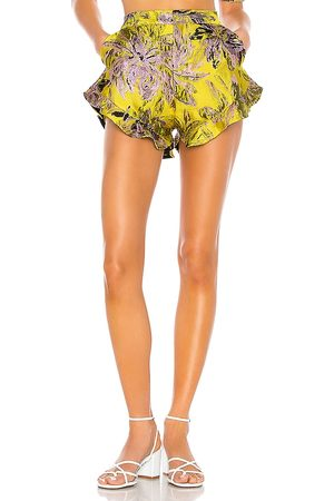 Camila Coelho Corelida Short in - Yellow. Size L (also in S, XS, M, XL).