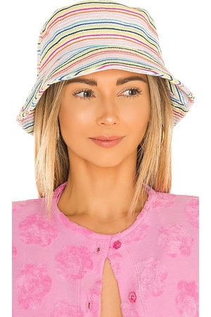 Lele Sadoughi Damen Hüte - X Solid & Striped Bucket Hat in - White,Pink. Size all.
