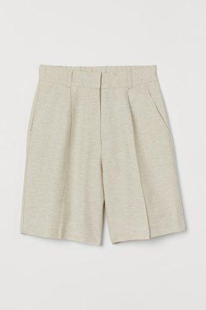 H&M Damen Shorts - Bermudashorts aus Leinenmix