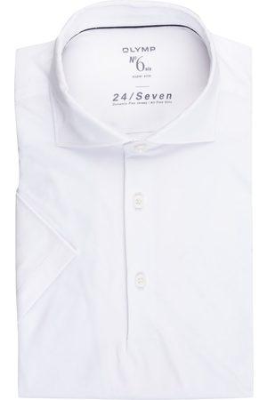 Olymp Jersey-Poloshirt No. Six 24/7 Super Slim Fit weiss