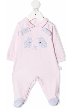 Il gufo Schlafanzüge - Panda patch cotton pyjamas
