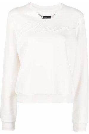 Philipp Plein Damen Sweatshirts - Embroidery Signature leisure sweatshirt