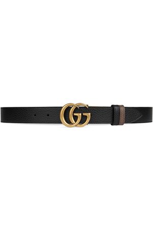 Gucci Double G buckle thin reversible belt