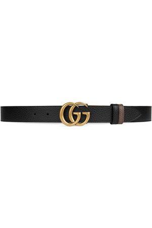 Gucci Herren Gürtel - Double G buckle thin reversible belt
