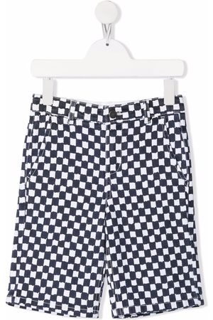 Stella McCartney Gingham check denim shorts