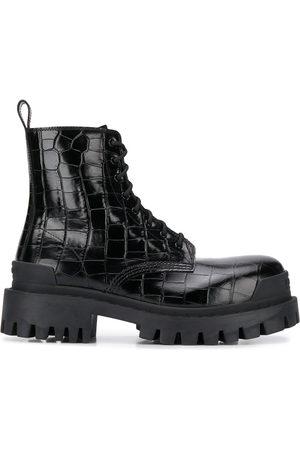 Balenciaga Damen Stiefeletten - Strike L20 crocodile effect chunky boots