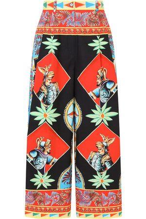 Dolce & Gabbana Damen Weite Hosen - Multi-panel palazzo pants