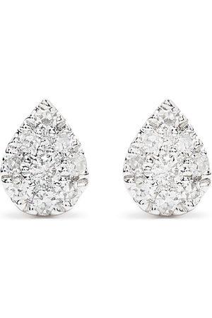 DJULA Herren Ohrringe - 18kt white gold diamond Pear earrings
